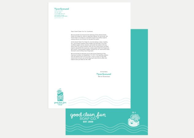 Good Clean Fun Co. Envelope