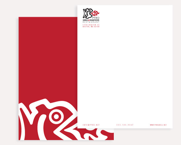 Pyro Grill & Seafood Restaurant Letterhead